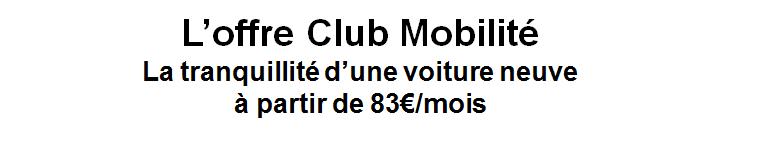 Offre Club Mobilité 1